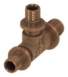 Produktbild: TECEflex T-Stück reduziert ohne Druckhülse 16 x 20 x 16 mm, Rotguss