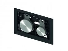 Produktbild: TECEloop Betätigungseinheit für WC-Betätigungspl.,Tasten ES rundgeb. mit Anti-Fingerprint