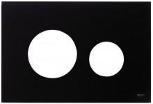 Produktbild: TECEloop Blende für WC-Betätigungsplatte Glas schwarz