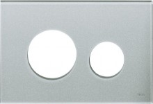 Produktbild: TECEloop Blende für WC-Betätigungsplatte Glas silbergrau