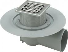 Produktbild: VIEGA Advantix Bodenablauf komplett DN 70, Einbauhöhe ab 90 mm, Ablauf waagerecht