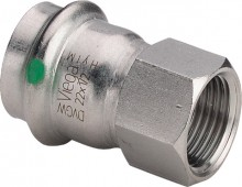 "Produktbild: SANPRESS INOX Übergangsst. Edelst. 2312 15 mm x 1/2"" IG"