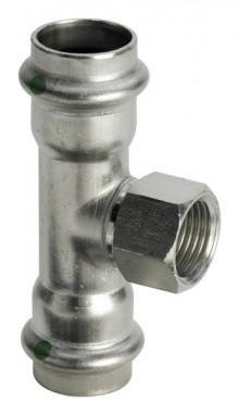 """Produktbild: SANPRESS INOX T-Stück Edelstahl 2317.2 15 x 1/2"""" IG x 15 mm"""