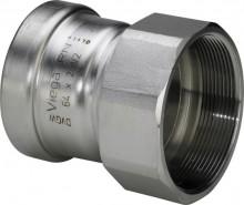 "Produktbild: Viega SANPRESS INOX Übergangsst. ES 2312XL 88,9 mm  x 3"" IG"