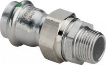 """Produktbild: SANPRESS INOX Verschrbg. Edelst. 2365 15 mm x 1/2"""" AG, flachdichtend"""