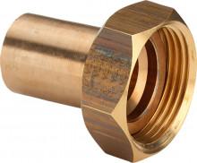 """Produktbild: Viega  SANPRESS Verschraubung Rotguss 2264 15 mm x 3/4"""" IG flachdichtend"""