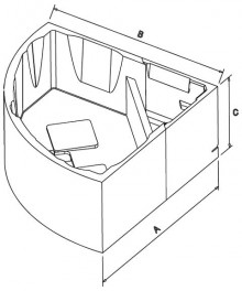 Produktbild: Wannenträger für CT 145 E 145x145x48