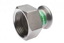 Produktbild: XPress Edelstahl Anschlussverschraubung 15 x 3/4 IG mit EPDM O-Ring M-Kontur