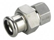 Produktbild: XPress Edelstahl Durchgver. XPS 330G d 15 x 1/2 IG mit EPDM O-Ring
