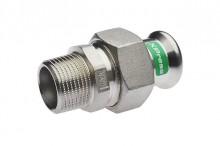 Produktbild: XPress Edelstahl Durchgvers. XPS 331G d 15 x 1/2 AG mit EPDM O-Ring