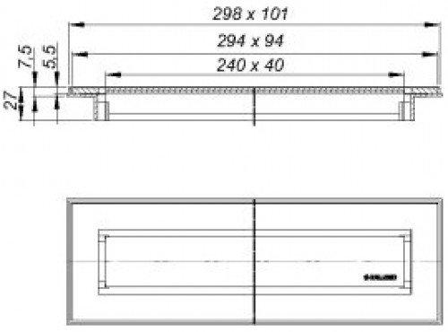 aufsatz ceraniveau a100 edelstahl mattschwarz 511126 dallmer edelstahl hahn gro handel. Black Bedroom Furniture Sets. Home Design Ideas