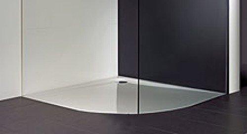 viertelkreis duschwanne 120x90 barrierefrei weiss 21691. Black Bedroom Furniture Sets. Home Design Ideas