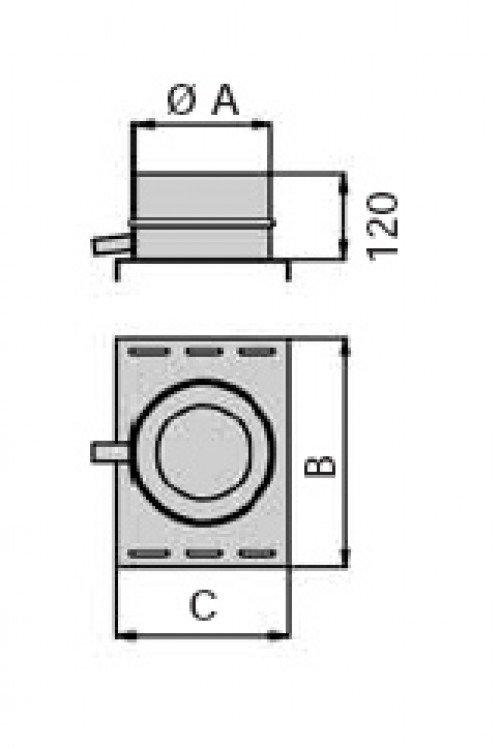 schornstein doppelwandig kondensatschale f r konsole ohne heizung dn 300 14043005111 sur. Black Bedroom Furniture Sets. Home Design Ideas