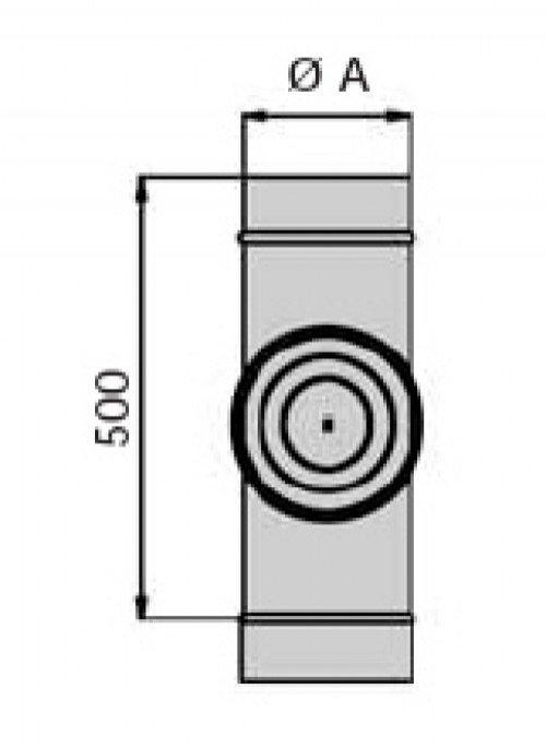 schornstein doppelwandig reinigungsst ck dn 200 14062005100fb sur edelstahl hahn. Black Bedroom Furniture Sets. Home Design Ideas