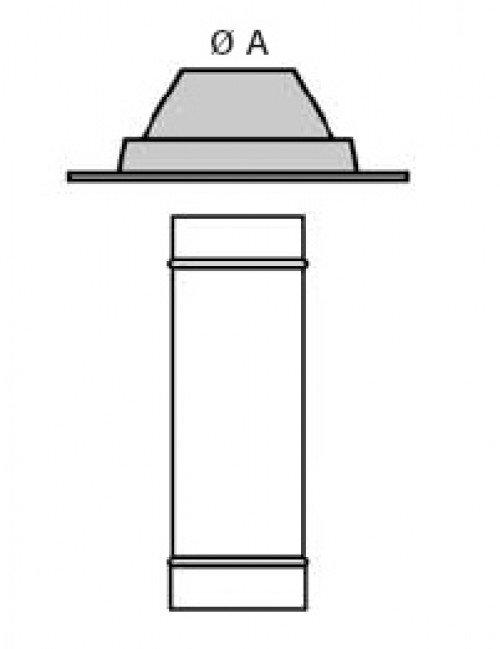 schornstein doppelwandig flexible dachdurchf hrung dn 113 14041139001 sur edelstahl hahn. Black Bedroom Furniture Sets. Home Design Ideas