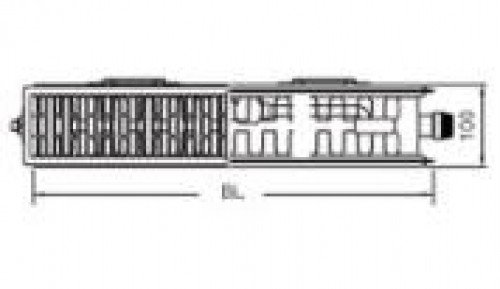 therm x2 profil ventil typ 22 900x400 mit mittelanschlu. Black Bedroom Furniture Sets. Home Design Ideas