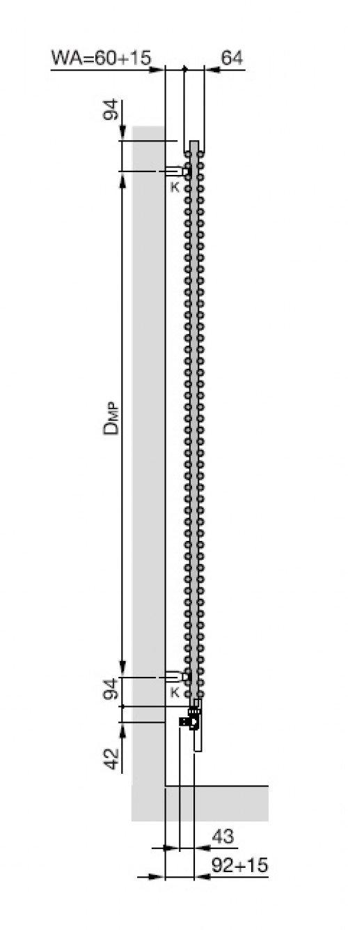 yucca badheizk rper x 800 mm weiss doppellagig zy200780b100000 zehnder hahn. Black Bedroom Furniture Sets. Home Design Ideas