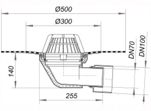 dachablauf 64 dallbit flanschring edelstahl dn 70 dn 100 642073 dallmer polypropylen uv. Black Bedroom Furniture Sets. Home Design Ideas