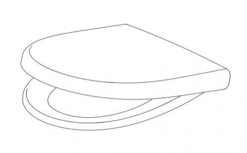 kadett 300 s wc sitz pergamon mit absenkautomatik 791880472 pagette hahn gro handel. Black Bedroom Furniture Sets. Home Design Ideas