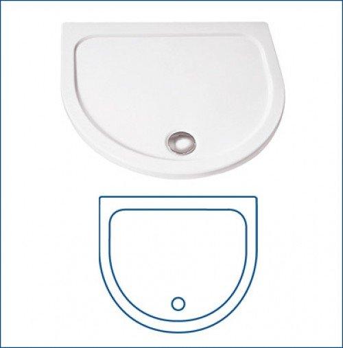 hsk halbkreis acryl duschwanne super flach 110 x 90 cm h he 3 5 cm weiss 535110 hsk acryl. Black Bedroom Furniture Sets. Home Design Ideas