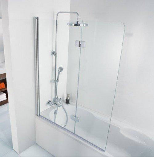 premium softcube badewannenaufsatz 2 teilig 114 cm chrom. Black Bedroom Furniture Sets. Home Design Ideas