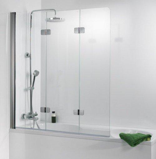 premium softcube badewannenaufsatz 3 teilig 114 cm chrom optik 6807114 hsk duschkabinenbau. Black Bedroom Furniture Sets. Home Design Ideas