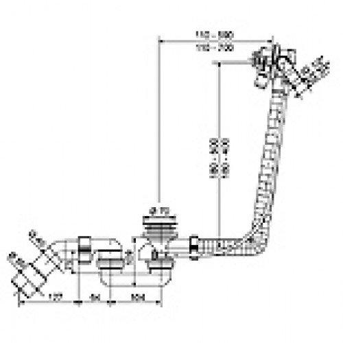 Dusche Garten Ohne Wasseranschluss : SANIT Funktionseinheit 836 f?r Sonderbadewannen, Bowdenzugl?nge 650
