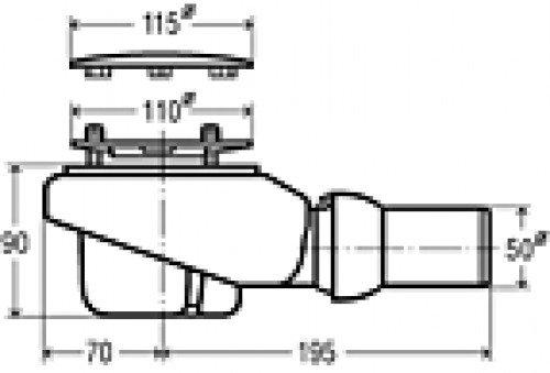 viega ablaufgarnitur tempoplex plus 6960 kunststoff verchromt 112mmx50mm 578916 viega. Black Bedroom Furniture Sets. Home Design Ideas