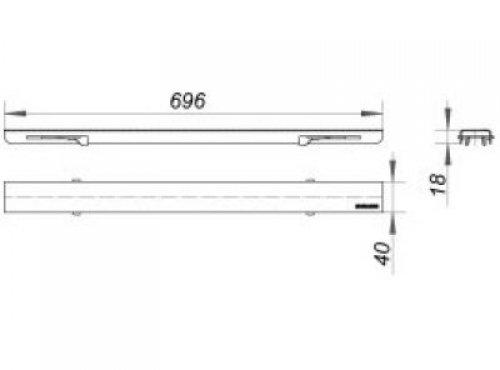 abdeckung ceraline standard 700 verriegelbar edelstahl 526038 dallmer edelstahl hahn. Black Bedroom Furniture Sets. Home Design Ideas