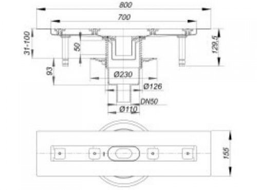 duschrinne ceraline senkr f 700 mm 521620 dallmer polypropylen hahn gro handel sigrun. Black Bedroom Furniture Sets. Home Design Ideas