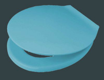 exklusiv wc sitz bermudablau mit deckel mit edelstahl befestigung 790821631 pagette hahn. Black Bedroom Furniture Sets. Home Design Ideas