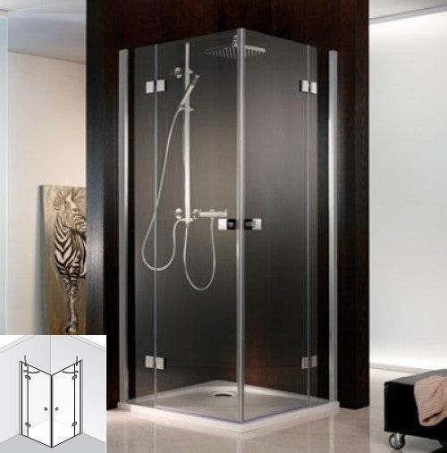 hsk duschkabine atelier dreht r eckeinstieg 4 teilig echtglas chrom optik l90 x r75 1720016. Black Bedroom Furniture Sets. Home Design Ideas