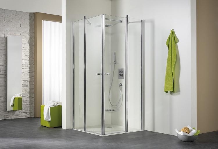 hsk duschkabine exklusiv eckeinstieg 4 teilig echtglas standardfarben l75 x r90 425012 stf. Black Bedroom Furniture Sets. Home Design Ideas