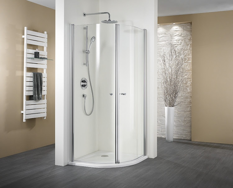 hsk duschkabine exklusiv runddusche 4 teilig echtglas sonderfarben radius 500 90 x 90. Black Bedroom Furniture Sets. Home Design Ideas