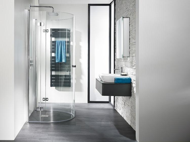 hsk duschkabine exklusiv runddusche halbkreis mit drehfaltt r echtglas sonderfarben 110. Black Bedroom Furniture Sets. Home Design Ideas