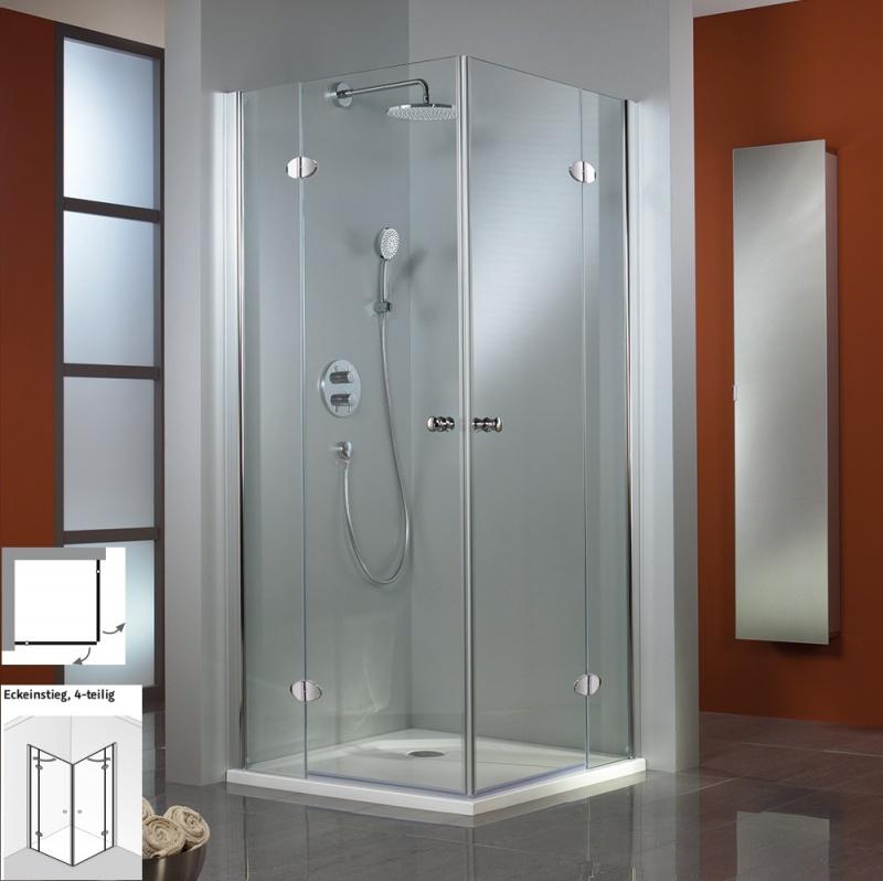 hsk duschkabine premium classic eckeinstieg 4 teilig echtglas sonderfarben l100 x r80. Black Bedroom Furniture Sets. Home Design Ideas