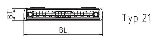 Kermi Psn Therm X2 Verteo Plan Heizkorper Senkrecht Typ 21 1800 500