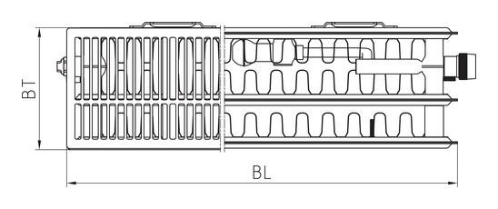 kermi plm therm x2 line ventilheizk rper typ 33 905 1105. Black Bedroom Furniture Sets. Home Design Ideas