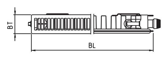 kermi plv therm x2 line ventilheizk rper typ 11 405 2305. Black Bedroom Furniture Sets. Home Design Ideas