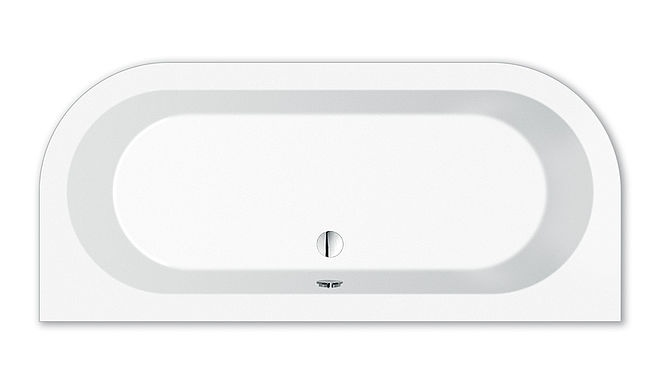 livorno oval wand badewanne 180x80x44 cm weiss 31675. Black Bedroom Furniture Sets. Home Design Ideas
