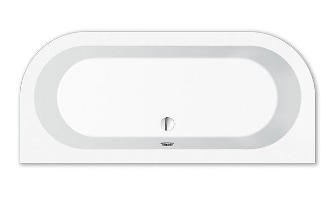 Livorno Oval Wand Freistehende Badewanne 180x80x44 Cm Weiss 31671