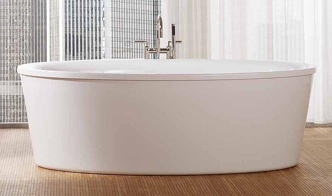 vasa oval freistehende badewanne 190x100x46 cm weiss 21580 repabad acryl hahn gro handel. Black Bedroom Furniture Sets. Home Design Ideas